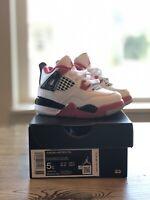 Nike Air Jordan 5 Retro (Size 5 Youth) White Fire Red Black 2020 440888-102