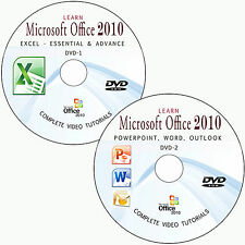 LEARN MICROSOFT OFFICE 2010-WORD,EXCEL,POWERPOINT,OUTLOOK TUTORIAL TRAINING DVD
