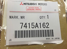 """7415A162 - GENUINE Factory OEM Mitsubishi Lancer Evolution """"MR"""" Decal/Emblem"""