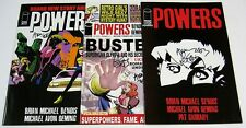Powers #10,14,15 All Signed:Brian Bendis & Michael Oeming COA IMAGE COMICS 2001