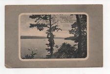 Bournedale, Ma Postcard 1916 Great Herring Lake from The Lakeview with error
