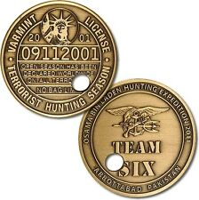 """NEW """"Punched Ticket"""" Osama bin Laden - Team Six Challenge Coin. 48777."""