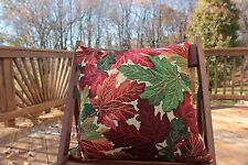 1 PC Tapestry Orange Red Thanksgiving Fall Foliage Cushion Pillow Throw Cover