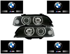 2 FEUX PHARE AVANT ANGEL EYES BMW SERIE 5 E39 PHASE 1 525 TDS 530D 525TDS ... M5