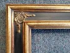 Picture Frame-12x16 Shabby Chic Antique Style Ornate Baroque Gold &Black 980715