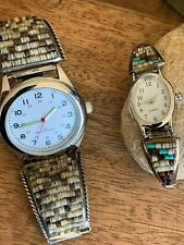 Matching Pair Sterling Silver Heshe Watches