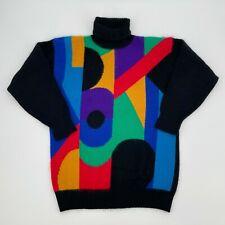 Vintage Rafella Shapes Sweater Small Angora Lambswool Rabbit Hair 90s