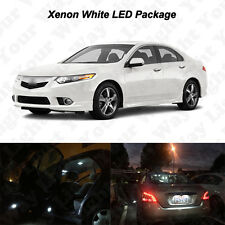 18 x White LED Interior Bulbs + Reverse + Tag Lights For 2004-2014 Acura TSX