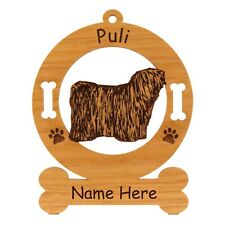 Puli Standing Dog Breed Ornament Personalized With Your Dogs Name 3768