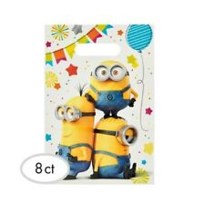 Despicable Me Minion Made Birthday Party Supplies Loot Lolly Bags Pack of 8