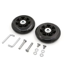 2pcs Luggage Suitcase 90mm Wheels Replacement Repair Axles Repair Kit