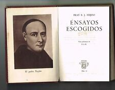 Fray B J Feijoo Ensayos Escogidos Crisol Aguilar Minibook Leather 1944