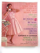 Vintage 1962 Eaton Canada Spring Summer Color and Black White Catalog K481