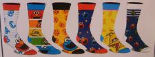 Sesame Street NEW 6 Pair CREW SOCKS SIZE 8-12
