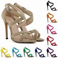 Shoes Ankle Strap Stilettos Womens High Heels Sandals Pumps New US Size 4-11 New