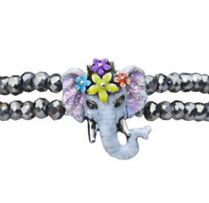 KIRKS FOLLY ELEPHANT WALK SLIDE BRACELET  silvertone