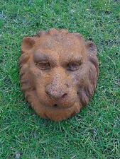 LION tête lion pour fontaine en fonte , décoration mural , étang , jet d eau .
