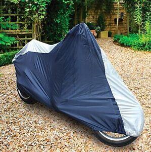 Sakura Large Full Motorcycle MotorBike Moped Cover Rain Waterproof + Storage Bag