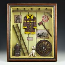 Firefighter Shadow Box Framed Wall Art Display Fire Fighting Gift