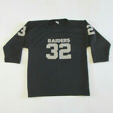 Vintage 80s Raiders # 32 Football Youth Jersey by Hutch Made in USA