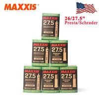 """MAXXIS MTB Bike Inner Tube 26/27.5"""" Presta/Schrader Valve Length Tire Tube"""