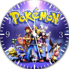 Pokemon Pikachu Frameless Borderless Wall Clock For Gifts or Home Decor E247