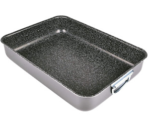 Alluflon Tradition Italien Lasagneform Aluminium schwarz Küche Back Form
