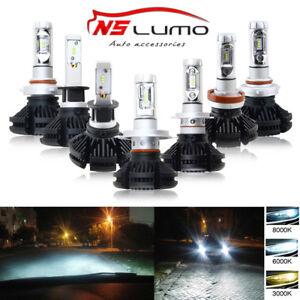 2x H4 9003 9006 H13 9012 50w Philips LED Fog Light Bulb Headlight Conversion Kit
