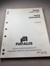 Fiat Allis 345 Wheel Loader Parts Catalog