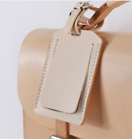 travel luggage handbag baggage suitcase ID tag cow Leather handmade white z836