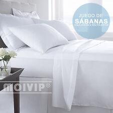 SABANAS Blancas BARATAS Juego de Sabanas 3pzs Bajera, Encimera y F Almohada
