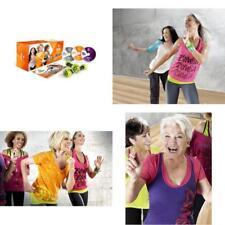3 DVD Zumba Fitness Gold Set Cardio Workout  + Bonus Guide and Toning Sticks