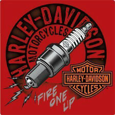 Harley Davidson Sparked Tin Sign by Ande Rooney