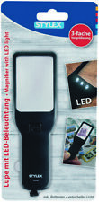 Stylex 31254 Lupe LED Vergrösserungsglas 8x20cm