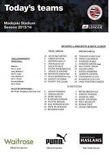 Teamsheet - Reading v Brighton & Hove Albion 2013/14 (15 Sep)