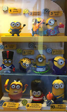 Minions (2015) McDonald's Happy Meal Minion Toy  Complete 10 - Asia (new sealed)