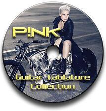 PINK POP ROCK GUITAR P!NK TABS TABLATURE SONG BOOK SOFTWARE CD
