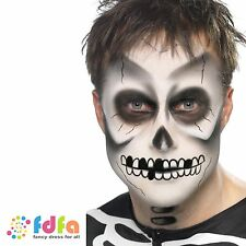 SMIFFYS FX SKELETON GHOST FACE PAINTING KIT - halloween fancy dress make up