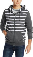 RUSTY MENS OVERCAST ZTH STRIPED HOODIE. SZ Small