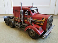 "KING HAULER American Truck 17"" Tinplate Metal Handmade Model EXCELLENT CONDITION"