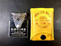 """Empire MFG Co Magnetic Level Protractor Rule Square 1/16"""" Grad Carpenter #BR"""