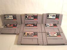 Super Nintendo SNES Sports games (8 games) NBA, MLB & NHL