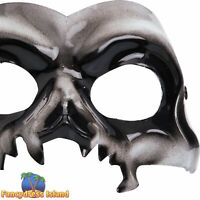 Skull Eyemask Mask with Elastic Halloween Adult Mens Fancy Dress Costume