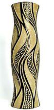60cm Tall Floor Standing Vase Black & Gold Glitter Vase Ceramic