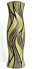 60cm Tall Floor Standing Vase Black & Gold Vase Ceramic