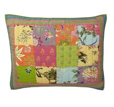 Company Store 2 Patchwork Pillow Shams Jubilee Floral 100% Cotton Standard Size