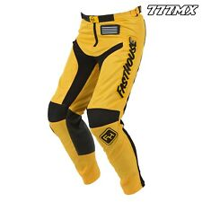 "2018 FASTHOUSE GRINDHOUSE MOTOCROSS MX PANTS YELLOW 36"" WAIST *IN STOCK*"