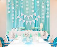 Birthday Decoration Christmas Hanging White Party Snowflake Winter Wonderland
