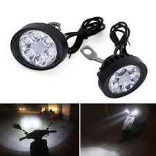 2x Motorcycle Spot Fog Light Headlight  Waterproof 6 LED Front Head Lamp 12V-85V