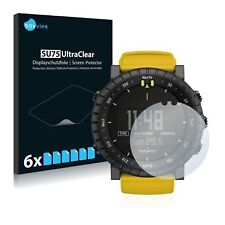 Suunto Core Yellow Crush Watch, 6 x Transparent ULTRA Clear Screen Protector
